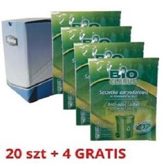 preparat antyodorowy do koszy śmietników 20 szt + 4