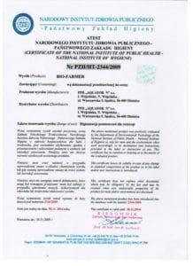 atest biofarmer 2014 218x300 - Certyfikaty