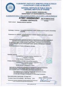 atest blokada zapachow 2015 218x300 - Certyfikaty