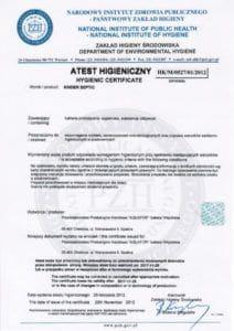 atest kinder septic 212x300 - Certyfikaty