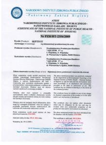 atest septivit 2014 218x300 - Certyfikaty