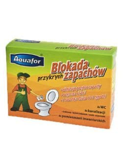 Aquafor  Bakterie Enzymy Neutralizator Przykrych Zapachów - saszetka do toalety - 4 szt