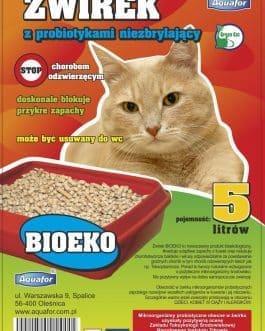 Żwirek dla kota z probiotykami Aquafor