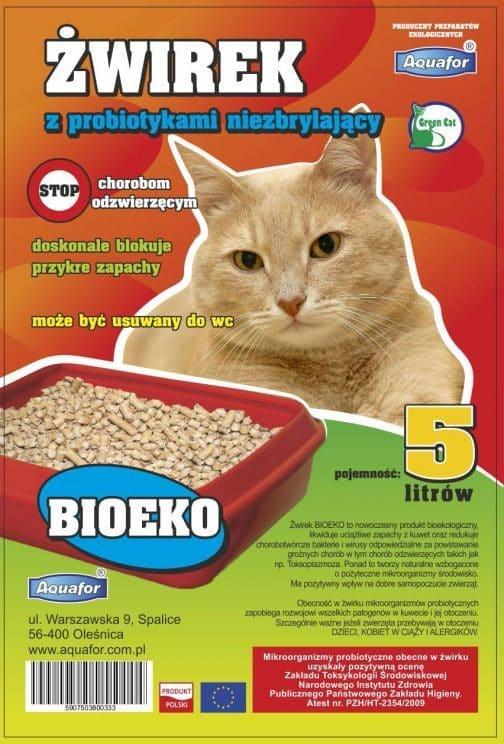 wirek z probiotykami niezbrylajacy 1 504x744 - Żwirek dla kota z probiotykami Aquafor