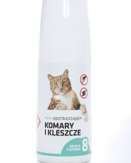 Płyn na komary i kleszcze dla kotów - spray 30ml
