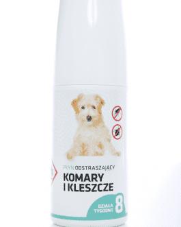 Płyn na komary i kleszcze dla psów – spray 30ml