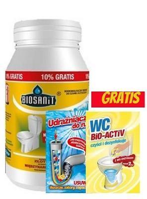 Biosanit preparat do szamb i oczyszczalni 1kg+ 100g gratis zasyp 3 lata