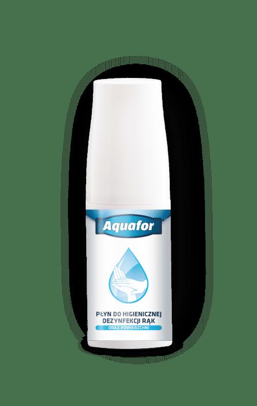 aquafor 50ml 504x797 - Płyn do higienicznej dezynfekcji rąk 50ml