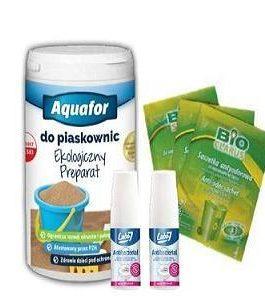Kinder Septic Neutralizator Priobiotyki Bakterie do Piaskownicy 1 kg + BioClarus bakterie neutralizator zapachów do koszy na śmieci 10 szt + gratis