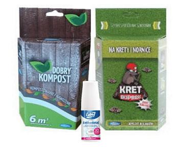 Zestaw Odstraszacz na Krety i Nornice 200g i Preparat Bakterie do Kompostowania 250 + gratis