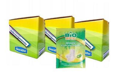 ZESTAW BIOSEPTIC bakterie aktywator do szamb i oczyszczalni 60 saszetek + gratis