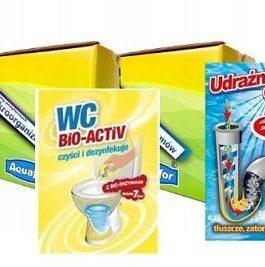 Zestaw saszetek Udrażniacz do rur 20szt i Wc Bio -Aktiv 20szt + gratis