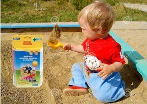 Bezpieczne dziecko w piaskownicy