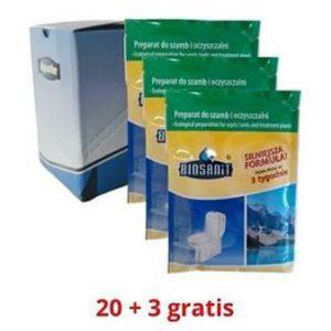 Biosanit Bakterie do Szamba Oczyszczalni 20 +3